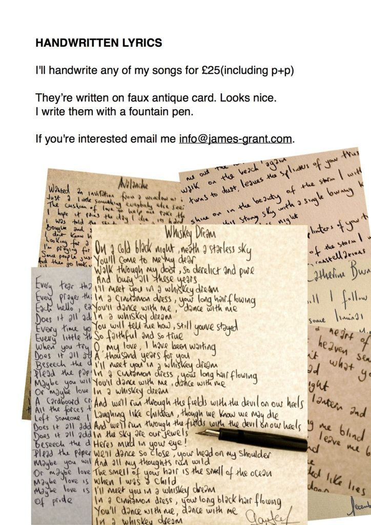 Handwritten Lyrics copy