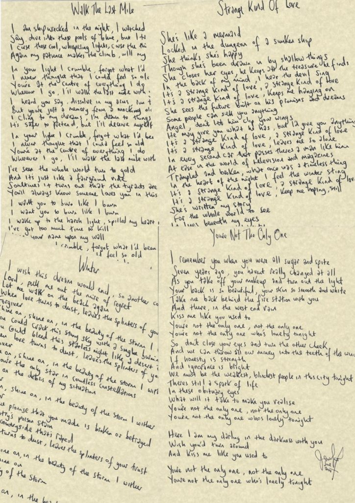 Handwritten Lyrics copy2